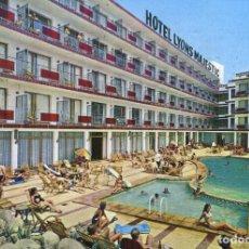 Postales: M01107 BLANES HOTEL LYONS MAJESTIC 1970 PUBLINTEL CIRCULADA. Lote 244702710