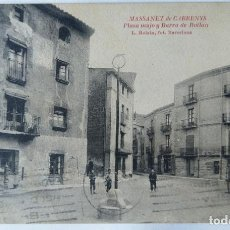 Postales: MASSANET DE CABRENYS PLZA MAJO Y BARRA DE ROTLAN. Lote 244759695