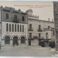 Postales: MASSANET DE CABRENYS PLAZA DE LA CONSTITUCIO. Lote 244759810