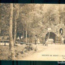 Postales: NUMULITE P0307 POSTAL ARENYS DE MUNT GRUTA DE LOURDES FONTS I PLAÇA. Lote 244785095