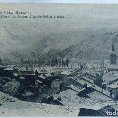 Postales: ESTERRI DE ANEU DIA DE BOIRA Y NEU COMERS CASA MASANO. Lote 244787680
