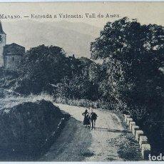 Postales: ENTRADA A VALENCIA VALL DE NEU COMERS CASA MASANO. Lote 244787965
