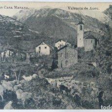 Postales: VALENCIA DE ANEU COMERS CASA MASANO. Lote 244788125