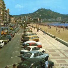 Postales: M01237 BLANES PASEO SABANELL LOS PINOS MARTINEZ Nº191 SC COCHES SEAT 850 1430 RENAULT 5 BUS. Lote 244817720