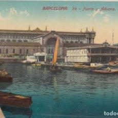 Postales: (211) POSTAL BARCELONA - 34 PUERTO Y ADUANA - JORGE VENINI - SIN CIRCULAR. Lote 244951980