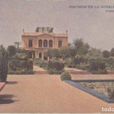 Postales: (212) POSTAL BARCELONA - SURTIDOR EN LA ROSALEDA, PARQUE MONTJUICH - ED. VICTORIA - SIN CIRCULAR. Lote 244952005