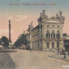 Postales: (213) POSTAL BARCELONA - ADUANA Y MONMENTO COLÓN - MODERN SERIE - SIN CIRCULAR. Lote 244952015