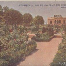 Postales: (216) POSTAL BARCELONA - ROSALEDA CASA DE LA COLLA DEL ARRÓS - ED. VICTORIA - SIN CIRCULAR. Lote 244952140