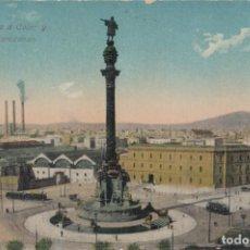 Postales: (217) POSTAL BARCELONA - 89 MONUMENTO A COLÓN Y CUARTEL DE ATARAZANAS - VENINI - SIN CIRCULAR. Lote 244952200