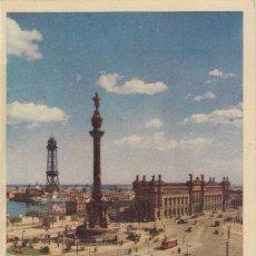 Postales: (219) POSTAL BARCELONA - PUERTA DE LA PAZ Y MONUMENTO A COLÓN -HELIOTIPIA ART- ANIMADA- SIN CIRCULAR. Lote 244952275