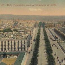 Postales: (221) POSTAL BARCELONA - 55 VISTA PANORAMICA DESDE MONUMENTO A COLÓN - JORGE VENINI - SIN CIRCULAR. Lote 244952345