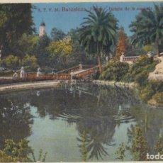 Postales: (232) POSTAL BARCELONA - 36 PARQUE DETALLE CASCADA - JORGE VENINI - ESCRITA. Lote 244952655