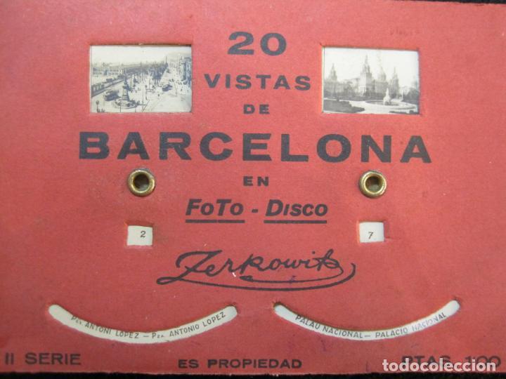 Postales: BARCELONA-20 VISTAS FOTOGRAFICAS-FOTO DISCO MOVIBLE-ZERKOWITZ-POSTAL ANTIGUA-(77.894) - Foto 2 - 245250065