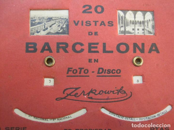 Postales: BARCELONA-20 VISTAS FOTOGRAFICAS-FOTO DISCO MOVIBLE-ZERKOWITZ-POSTAL ANTIGUA-(77.894) - Foto 3 - 245250065