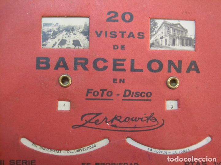 Postales: BARCELONA-20 VISTAS FOTOGRAFICAS-FOTO DISCO MOVIBLE-ZERKOWITZ-POSTAL ANTIGUA-(77.894) - Foto 4 - 245250065