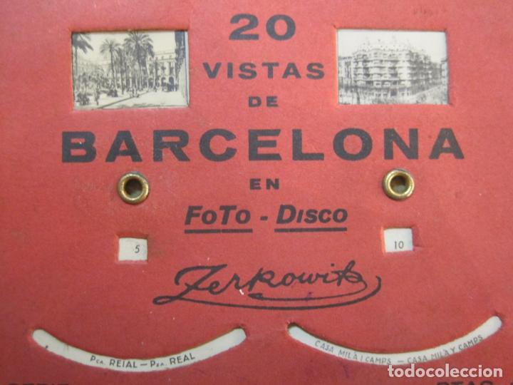 Postales: BARCELONA-20 VISTAS FOTOGRAFICAS-FOTO DISCO MOVIBLE-ZERKOWITZ-POSTAL ANTIGUA-(77.894) - Foto 5 - 245250065