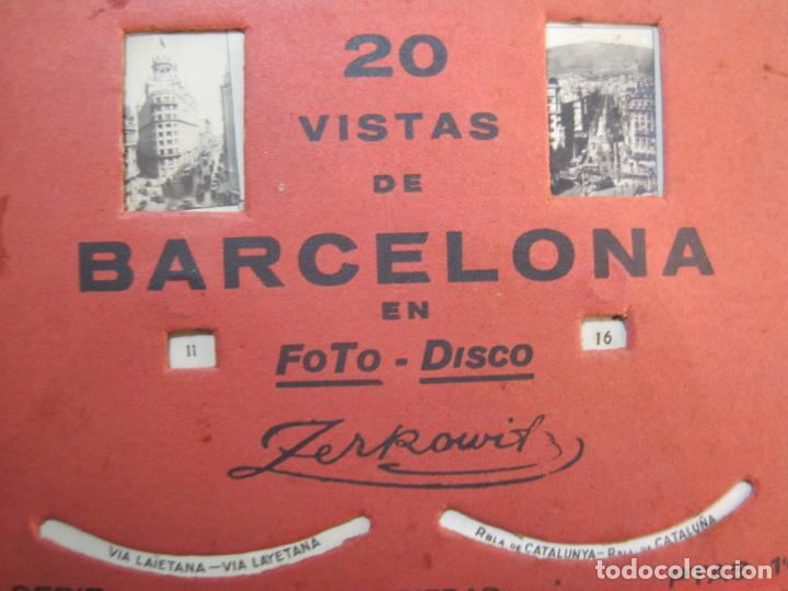 Postales: BARCELONA-20 VISTAS FOTOGRAFICAS-FOTO DISCO MOVIBLE-ZERKOWITZ-POSTAL ANTIGUA-(77.894) - Foto 6 - 245250065