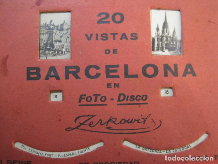 Postales: BARCELONA-20 VISTAS FOTOGRAFICAS-FOTO DISCO MOVIBLE-ZERKOWITZ-POSTAL ANTIGUA-(77.894) - Foto 8 - 245250065