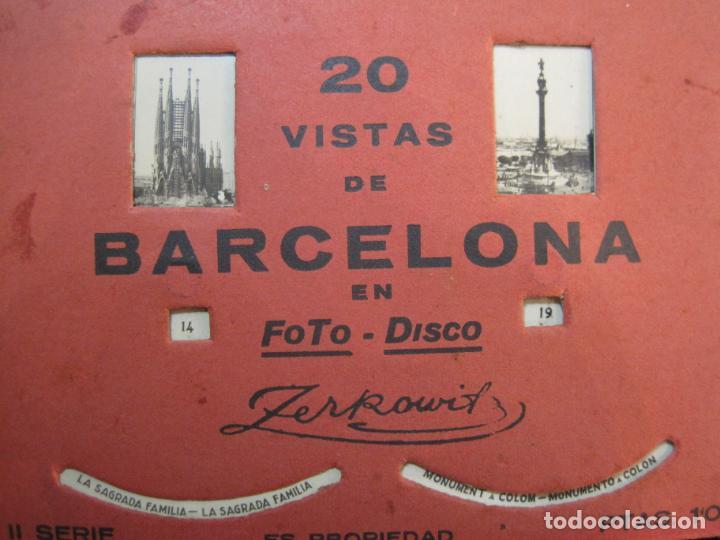 Postales: BARCELONA-20 VISTAS FOTOGRAFICAS-FOTO DISCO MOVIBLE-ZERKOWITZ-POSTAL ANTIGUA-(77.894) - Foto 9 - 245250065