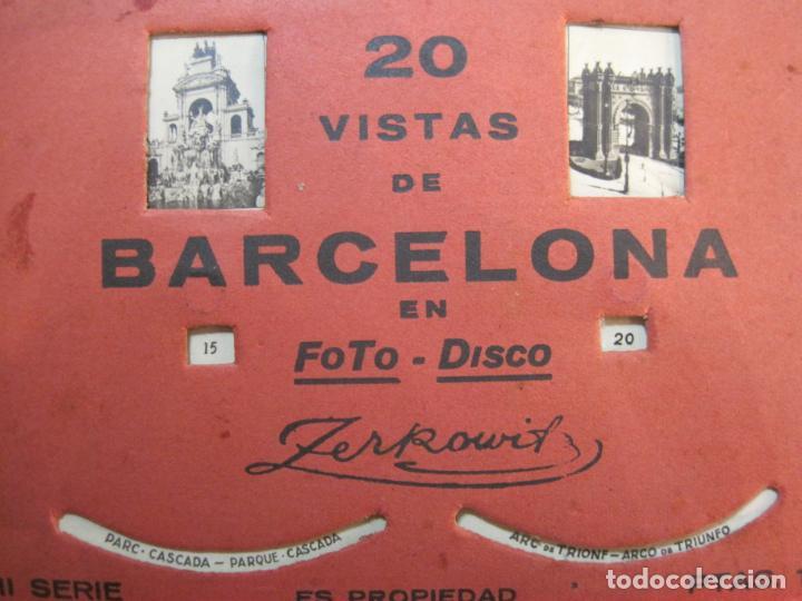 Postales: BARCELONA-20 VISTAS FOTOGRAFICAS-FOTO DISCO MOVIBLE-ZERKOWITZ-POSTAL ANTIGUA-(77.894) - Foto 10 - 245250065