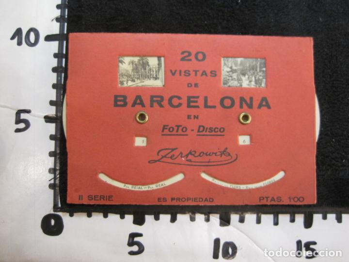 Postales: BARCELONA-20 VISTAS FOTOGRAFICAS-FOTO DISCO MOVIBLE-ZERKOWITZ-POSTAL ANTIGUA-(77.894) - Foto 11 - 245250065
