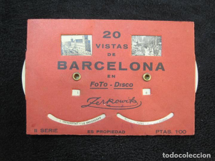 BARCELONA-20 VISTAS FOTOGRAFICAS-FOTO DISCO MOVIBLE-ZERKOWITZ-POSTAL ANTIGUA-(77.894) (Postales - España - Cataluña Antigua (hasta 1939))