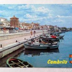 Postales: POSTAL CAMBRILS, EL PUERTO, COSTA DORADA, AÑOS 70. Lote 245356455