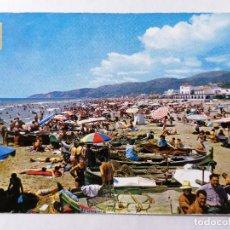 Postales: POSTAL CASTELLDEFELS, PLAYA, AÑOS 60. Lote 245517240