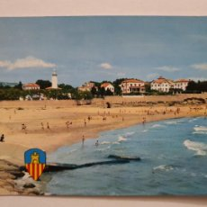 Cartes Postales: VILANOVA I LA GELTRÚ - PLATJA DEL FAR / PLAYA DEL FARO - P47397. Lote 245920570