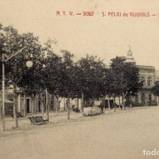 Postales: P-12248. SANT FELIU DE GUIXOLS.PASEO DEL MAR. POSTAL A.T.V. CIRCULADA. AÑO 1916.. Lote 245957420