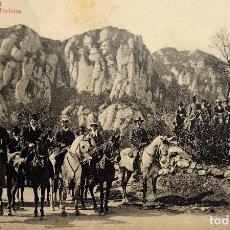 Postales: P-12250. MONTSERRAT. GRUPO DE TURISTAS.FOTO L. ROCA. CIRCULADA. JUNIO DE 1911. Lote 245960195