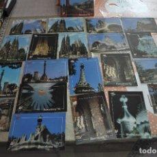 Postales: 21 POSTALES BARCELONA 92, GAUDI, SAGRADA FAMILIA, COLON, ETC... CON MASCOSTA COBI. 16X12CM SIN USAR. Lote 246059295