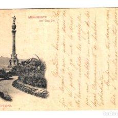 Postales: BARCELONA - MONUMENTO DE COLÓN - HAUSER Y MENET - REV. SIN DIVIDIR - CIRCULADA 23/12/1898 - 140X89. Lote 246141320