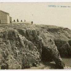 Postales: A06537 SITGES ERMITA SAN SEBASTIAN FABERT Nº7 CIRCULADA 1911 FOTOGRAFICA. Lote 246143665