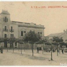 Postales: A06539 LLAGOSTERA PLASSA DE L'INDUSTRIA ATV Nº2370 CIRCULADA 1909. Lote 246144300