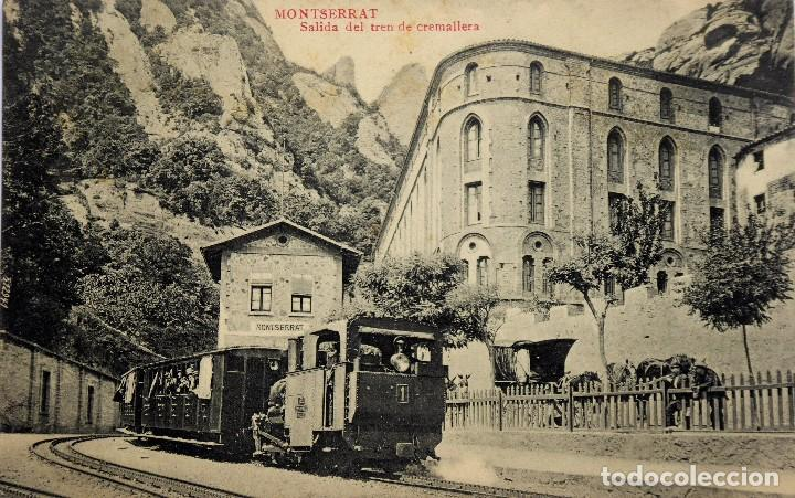 P-12286. MONTSERRAT. SALIDA DEL TREN DE CREMALLERA. FOT. L. ROCA. NO CIRCULADA. PPIOS. SIGLO XX. (Postales - España - Cataluña Antigua (hasta 1939))