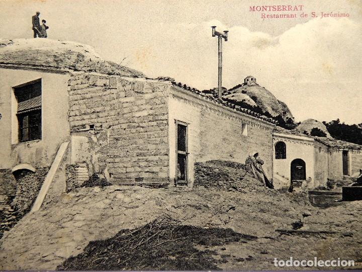 P-12287. MONTSERRAT. RESTAURANT DE S. JERONIMO. FOT. L. ROCA. NO CIRCULADA. PPIOS. SIGLO XX. (Postales - España - Cataluña Antigua (hasta 1939))