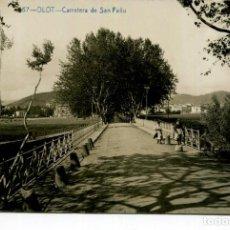 Postales: OLOT-CARRETERA DE SAN FELIU-FOTOGRÁFICA FABERT- AÑO 1914. Lote 247196215