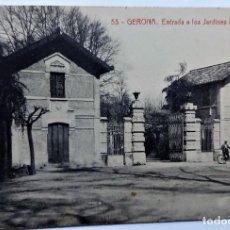Postales: TARJETA POSTAL ANTIGUA DE GERONA -ENTRADA A LOS JARDINES DE LA DEHESA - SIN CIRCULAR. Lote 247355255