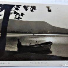 Postales: POSTAL FOTOGRAFICA ANTIGUA DE BAÑOLAS - VISTA PARCIAL LAGO - SIN CIRCULAR. Lote 247608000
