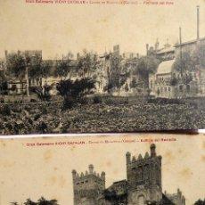 Postales: P-12418. GRAN BALNEARIO VICHY CATALÁN.CALDAS DE MALAVELLA (GERONA). 2 POSTALES. NO CIRCULADAS. 1907. Lote 247677060