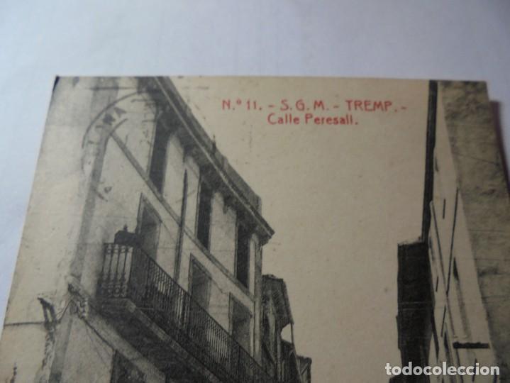 Postales: magnifica antigua postal de tremp calle peresall - Foto 2 - 247780380