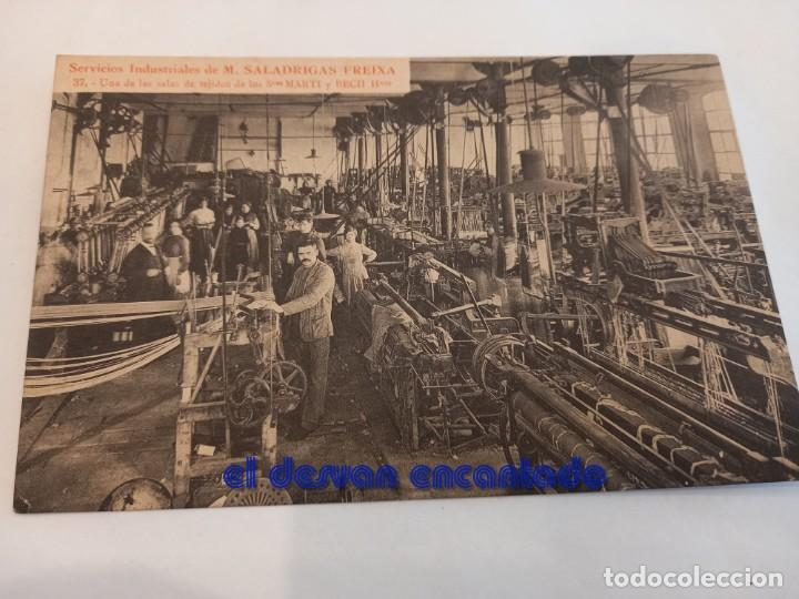 ANTIGUA POSTAL SERIE FÁBRICA SALADRIGAS FREIXA. POBLE NOU. BARCELONA. Nº 37 (Postales - España - Cataluña Antigua (hasta 1939))