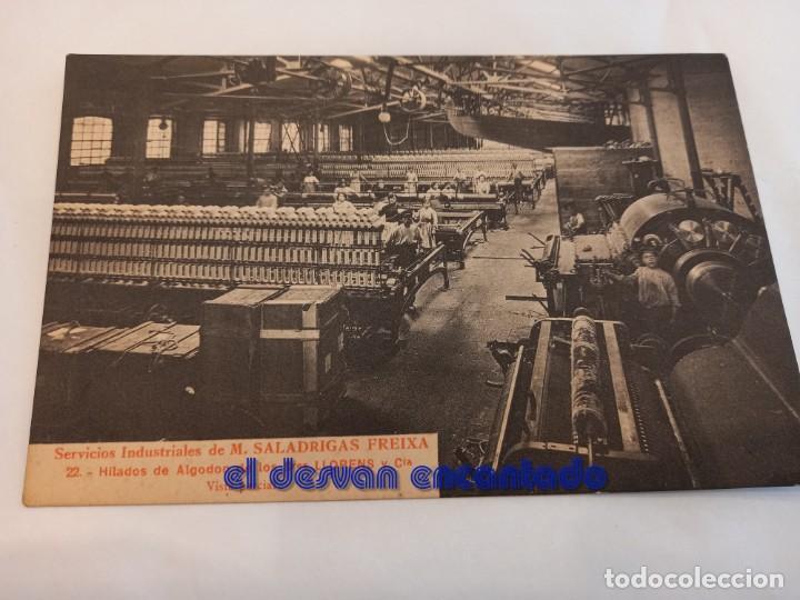 ANTIGUA POSTAL SERIE FÁBRICA SALADRIGAS FREIXA. POBLE NOU. BARCELONA. Nº 22 (Postales - España - Cataluña Antigua (hasta 1939))