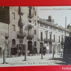 Postales: MANRESA - PANADERIA CASA VILASECA - POSTAL FOTOGRÁFICA. Lote 261544380