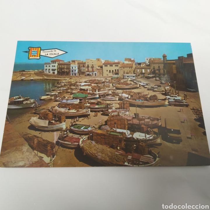 Postales: ¡IRREPETIBLE! La Escala, Playa de Pescadores, Ed. PERGAMINO - Lote clichés imprenta + postal - Foto 2 - 251963995