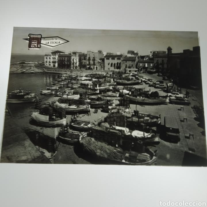 Postales: ¡IRREPETIBLE! La Escala, Playa de Pescadores, Ed. PERGAMINO - Lote clichés imprenta + postal - Foto 4 - 251963995
