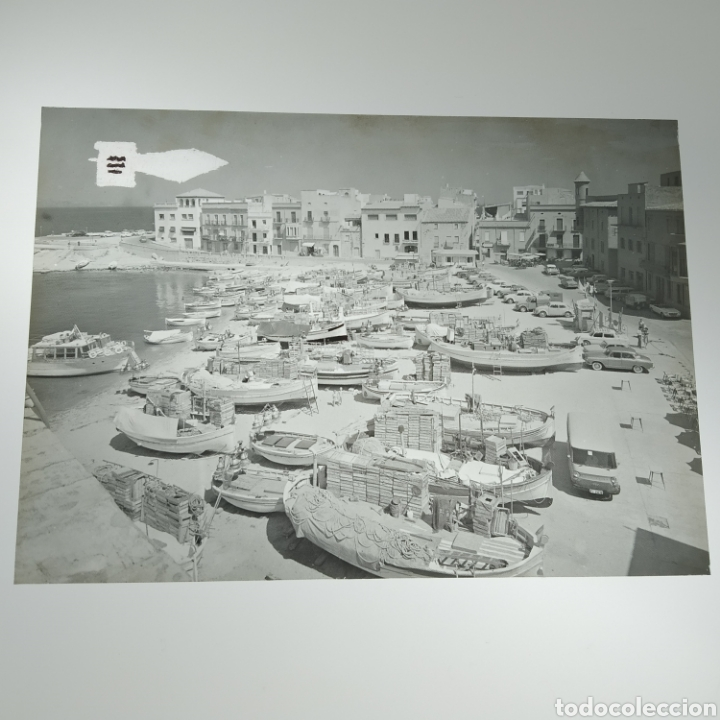 Postales: ¡IRREPETIBLE! La Escala, Playa de Pescadores, Ed. PERGAMINO - Lote clichés imprenta + postal - Foto 5 - 251963995