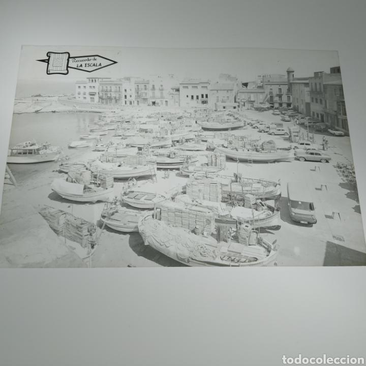 Postales: ¡IRREPETIBLE! La Escala, Playa de Pescadores, Ed. PERGAMINO - Lote clichés imprenta + postal - Foto 6 - 251963995