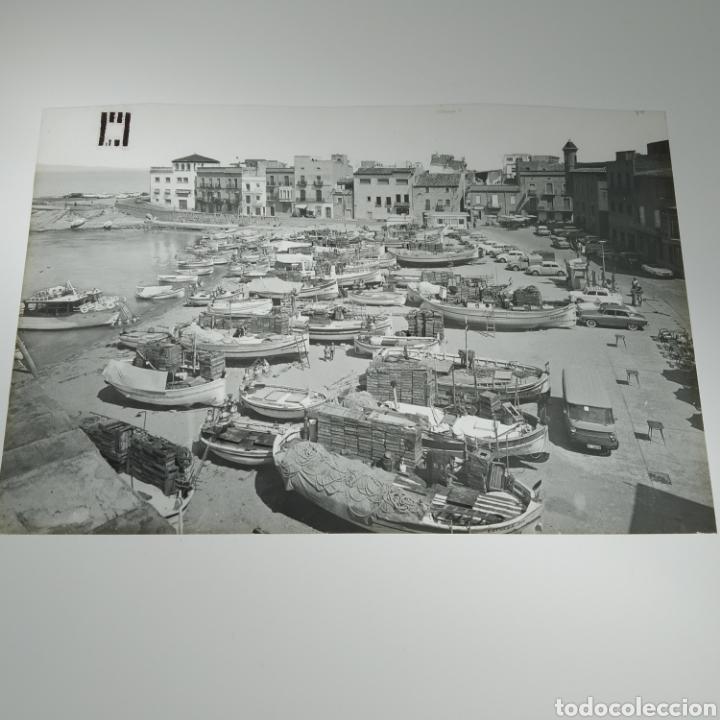 Postales: ¡IRREPETIBLE! La Escala, Playa de Pescadores, Ed. PERGAMINO - Lote clichés imprenta + postal - Foto 8 - 251963995